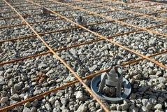 fundamentstångstål Arkivbild