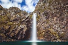 Fundao siklawa Minas Gerai - Serra da Canastra park narodowy - Zdjęcie Royalty Free