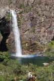 Fundao vattenfall - Serra da Canastra National Park - Minas Gerai Arkivbild