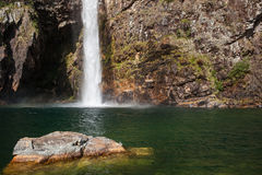 Fundao vattenfall - Serra da Canastra National Park - Minas Gerai Arkivfoton