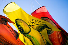 Fundas de viento decorativas Fotos de archivo libres de regalías