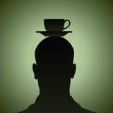 Funderare av en kupa av kaffe Fotografering för Bildbyråer