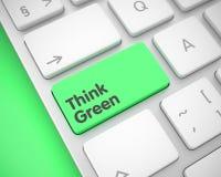 Funderaren gör grön - meddelandet på grön tangentbordtangent 3d Royaltyfri Fotografi