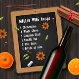 Funderat vin för jul drink Arkivfoton