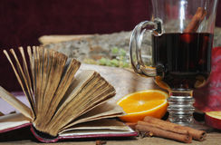Funderat vin med kryddor Royaltyfri Fotografi