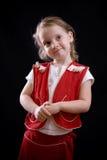 fundersam flicka royaltyfri bild
