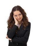 fundersam kvinna för affär royaltyfri fotografi