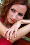 Fundersam kvinna för skönhet Arkivfoton