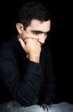 fundersamt för latinamerikansk man för uttryck SAD Fotografering för Bildbyråer