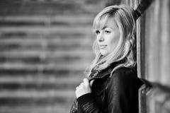 fundersamt kvinnabarn för portrat Fotografering för Bildbyråer