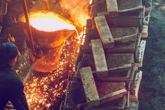 Fundição do metal em Letónia Foto do curso Imagem de Stock