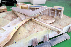 Fundição, teste padrão de madeira Fotografia de Stock Royalty Free