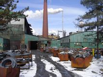 Fundición en el centro industrial Fotos de archivo