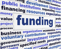 Funding business words message Royalty Free Stock Image