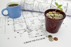 Funding the dream house construction project Royalty Free Stock Photos