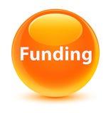 Funding glassy orange round button Royalty Free Stock Photography