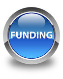 Funding glossy blue round button Royalty Free Stock Photo
