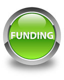 Funding glossy green round button Stock Photography