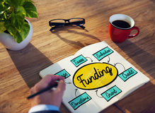 Funding Grant Donation Diagram Concept Stock Images