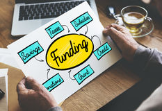 Funding Grant Donation Diagram Concept Royalty Free Stock Photos