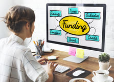 Funding Grant Donation Diagram Concept Stock Photos