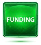 Funding Neon Light Green Square Button vector illustration