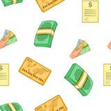 Funding pattern, cartoon style. Funding pattern. Cartoon illustration of funding vector pattern for web Stock Photo