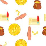 Funding pattern, cartoon style. Funding pattern. Cartoon illustration of funding vector pattern for web Stock Images
