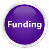 Funding premium purple round button Royalty Free Stock Image