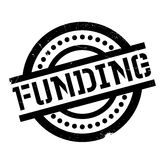 Funding rubber stamp Stock Images