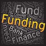 Funding ,Word cloud art background Stock Photo
