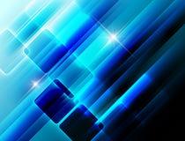 Fundo à moda azul Fotografia de Stock
