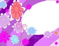 Fundo à moda, bonito com flores Imagens de Stock
