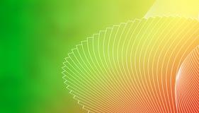 Fundo à moda geométrico das linhas brancas em um fundo verde, amarelo, vermelho e alaranjado verde Foto de Stock