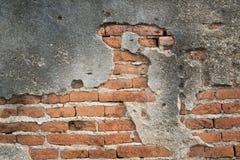 Fundo áspero da textura da cor alaranjada do tijolo Fotos de Stock