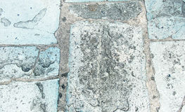 Fundo áspero velho da textura do grunge da pedra do pavimento da perspectiva imagem de stock