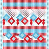 Fundo étnico de matéria têxtil Ilustração Stock