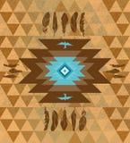Fundo étnico decorativo colorido dos nativos americanos do vetor Fotos de Stock Royalty Free