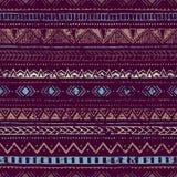 Fundo étnico do vintage As cores azuis e roxas Fotos de Stock Royalty Free