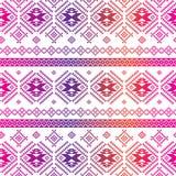 Fundo étnico sem emenda do teste padrão com asteca geométrico Fotografia de Stock