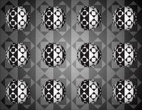 Fundo ótico das esferas do rhombus 3d ilustração stock