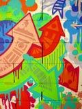 Fundo 01 dos grafittis Foto de Stock