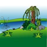Fundo 02 dos desenhos animados Imagem de Stock Royalty Free