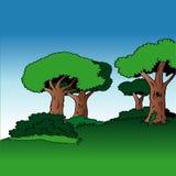 Fundo 03 dos desenhos animados Imagem de Stock