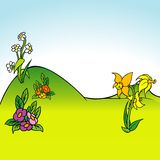 Fundo 05 dos desenhos animados Fotografia de Stock