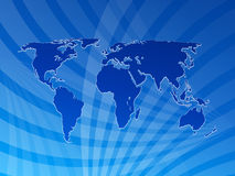 Fundo 2 do mapa de mundo Foto de Stock Royalty Free