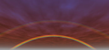 Fundo 3 do arco-íris ilustração royalty free