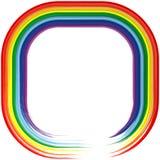 Fundo 3 do frame do sumário do arco-íris da arte Imagem de Stock Royalty Free