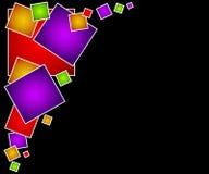 Fundo 3 do Web page dos quadrados Foto de Stock