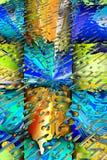Fundo 3D abstrato ilustração royalty free